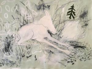 Deer painting by Christine Hales