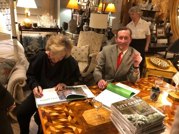 "Mick Hales and Jane Garmey at book signing for ""City Green"""