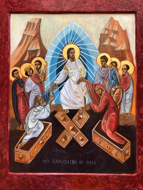 Harrowing of Hell Icon by Christine Simoneau Hales