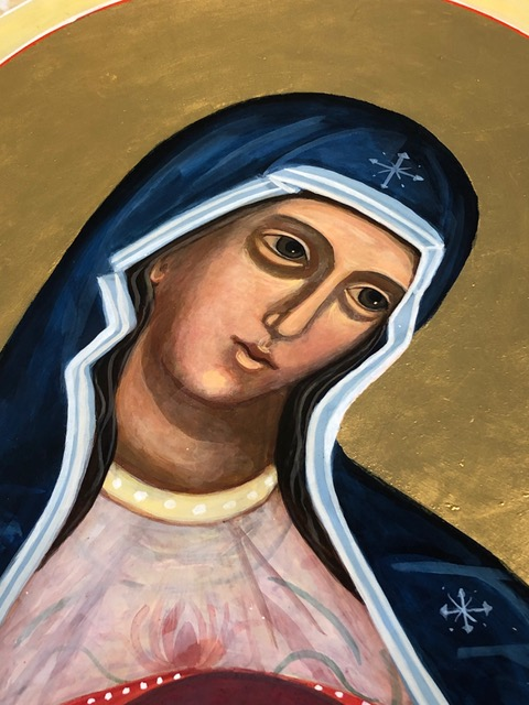 Blessed Mother Icon by Christine Hales