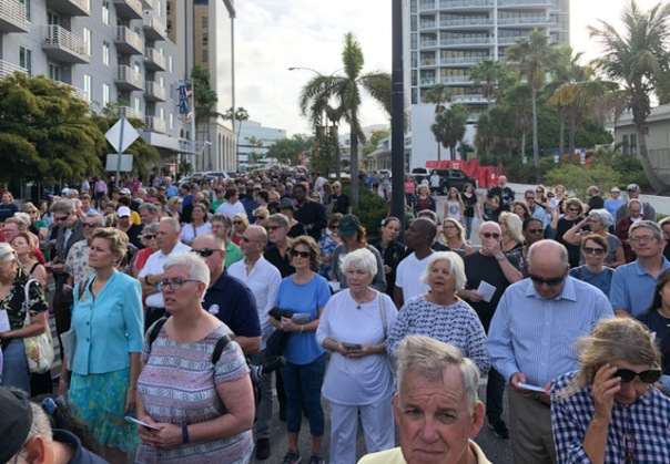 Stations of the Cross walk in Sarasota, 2019