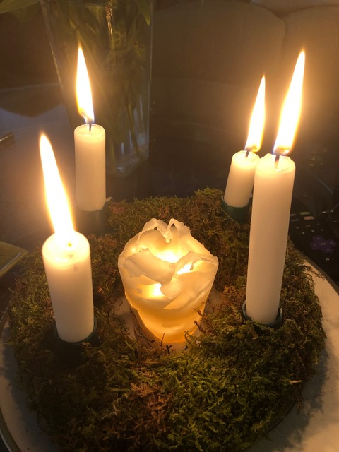 Advent Wreath on Christmas Eve by Mick Hales