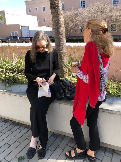 Gail Levin, Author with Christine at the Ringling Museum