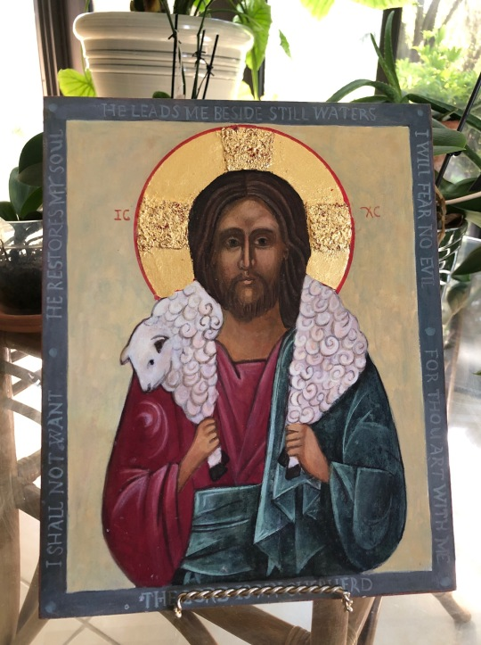 Good Shepherd Icon by Christine Hales
